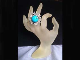 "Anello ""Flower Turquoise"" in Argento 925%"