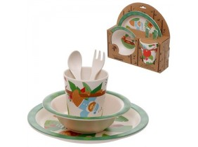 "Set Pappa in Bambù Eco-Friendly ""Bambootique"" Bradipo"
