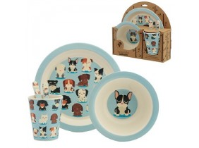 "Set Pappa in Bambù Eco-Friendly ""Bambootique"" Cani - Dog Squad"