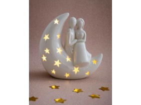 "Bomboniere ""AD"" MOON LIGHT Luce con led SPOSI ROMANTICI"