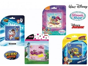 Bomboniere Gomma Puzzle: MINNIE, MICKEY MOUSE, SHIMMER SHINE, YO-KAY